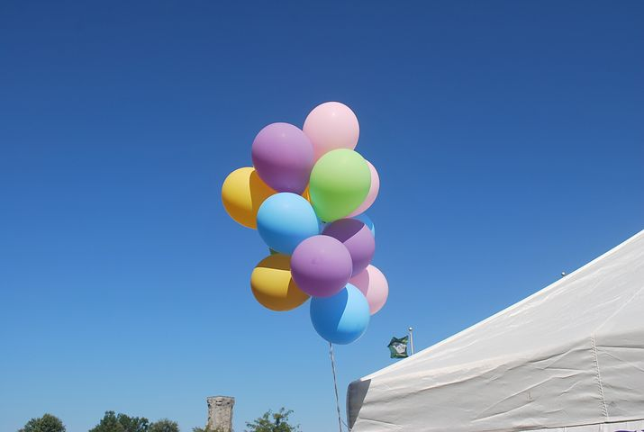 balloons in assorted colors